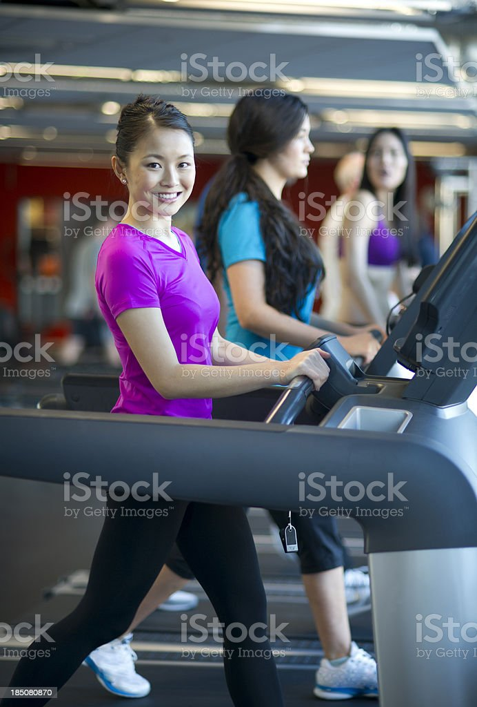treadmill woman royalty-free stock photo