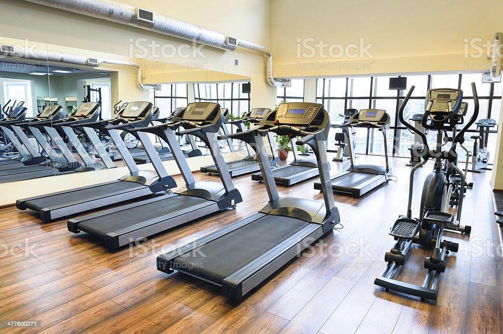 Treadmills stock photo