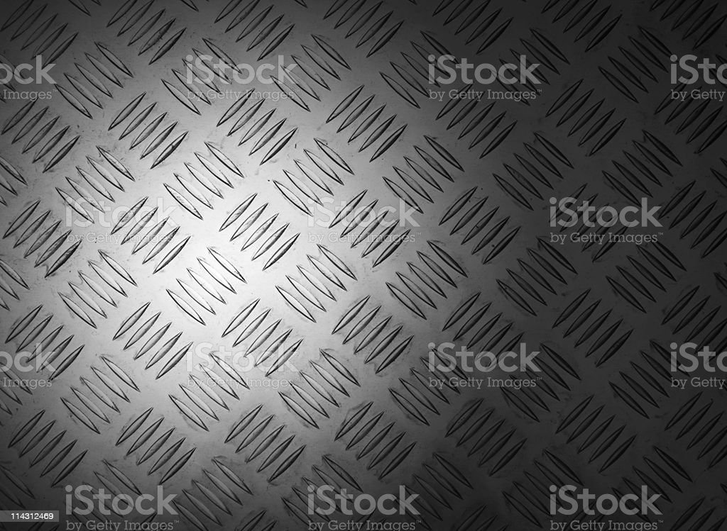 Treadplate with hot spot stock photo