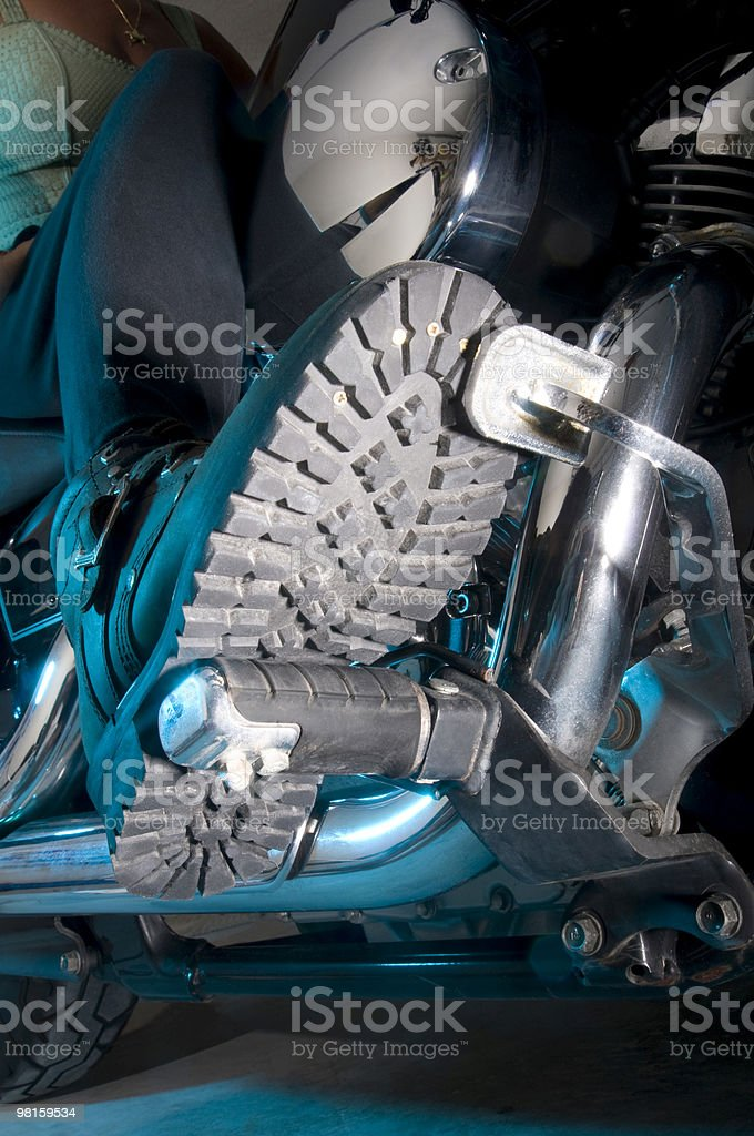 Treads - Motorcycle Riding Boots stock photo