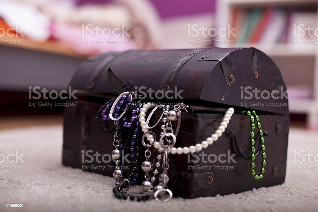 Treasure case in a childs room royalty-free stock photo