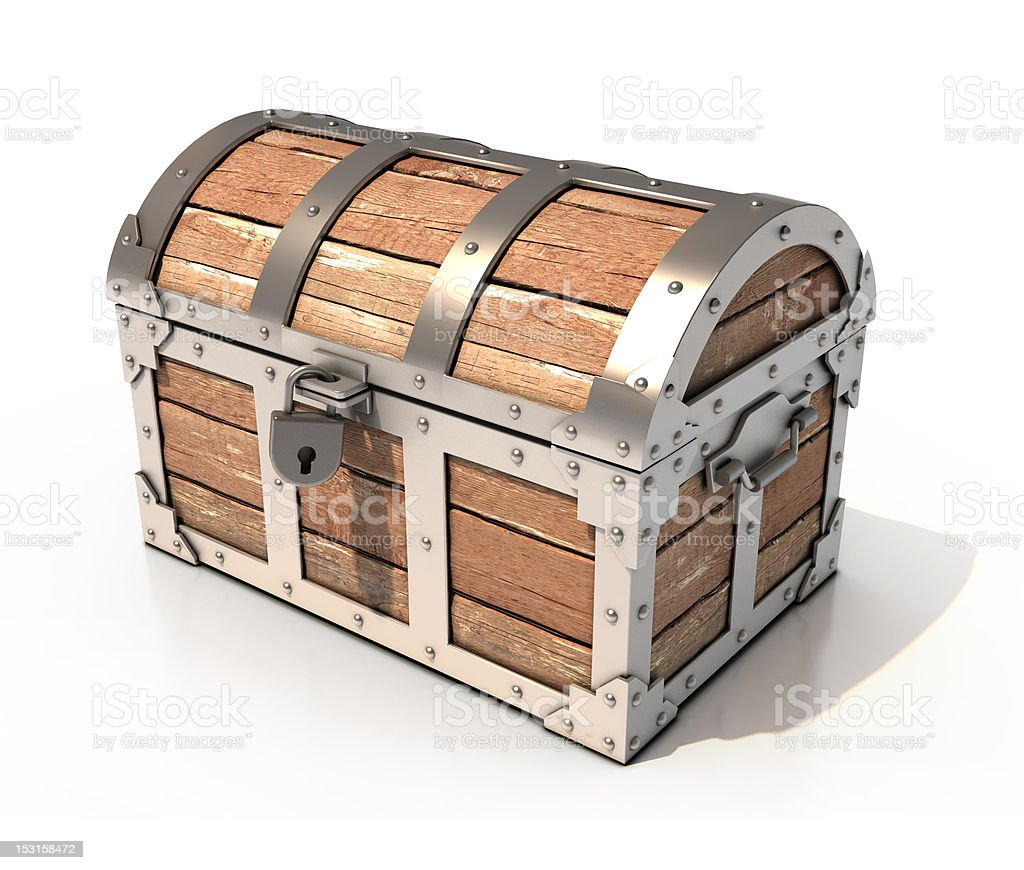 treasure chest 3d illustration royalty-free stock photo