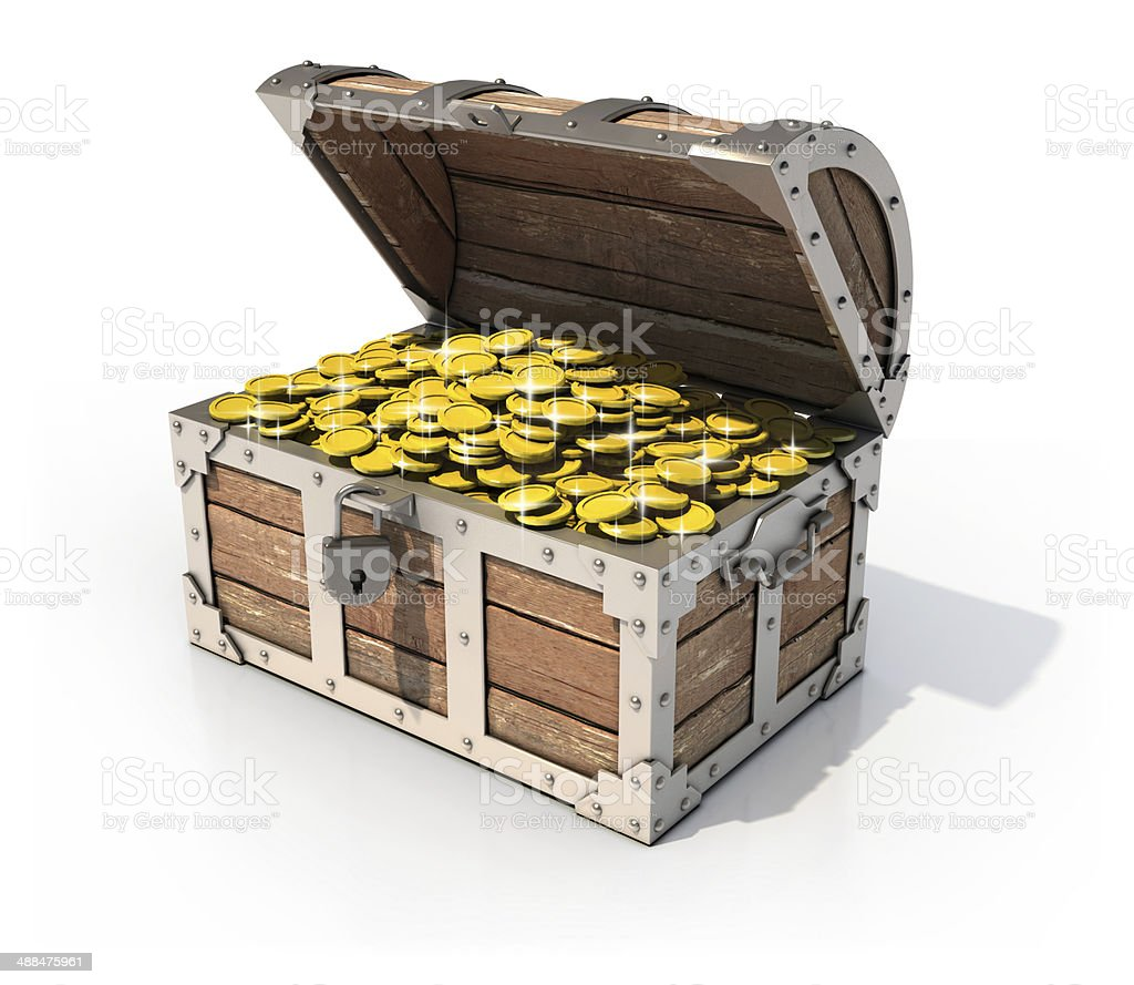 treasure chest 3d illustration stock photo