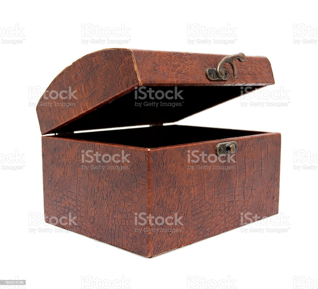 Treasure chest isolated on a white background royalty-free stock photo