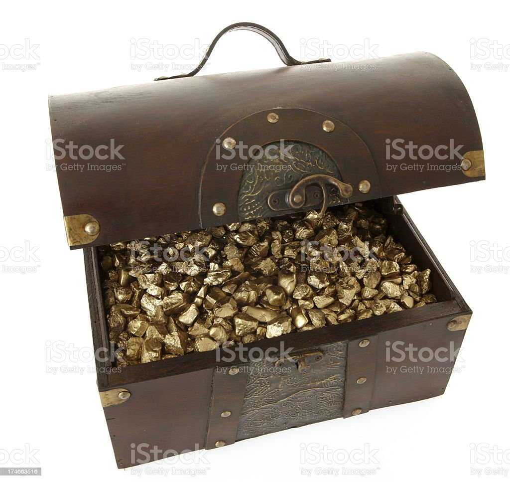 Treasure Chest of Nuggets royalty-free stock photo