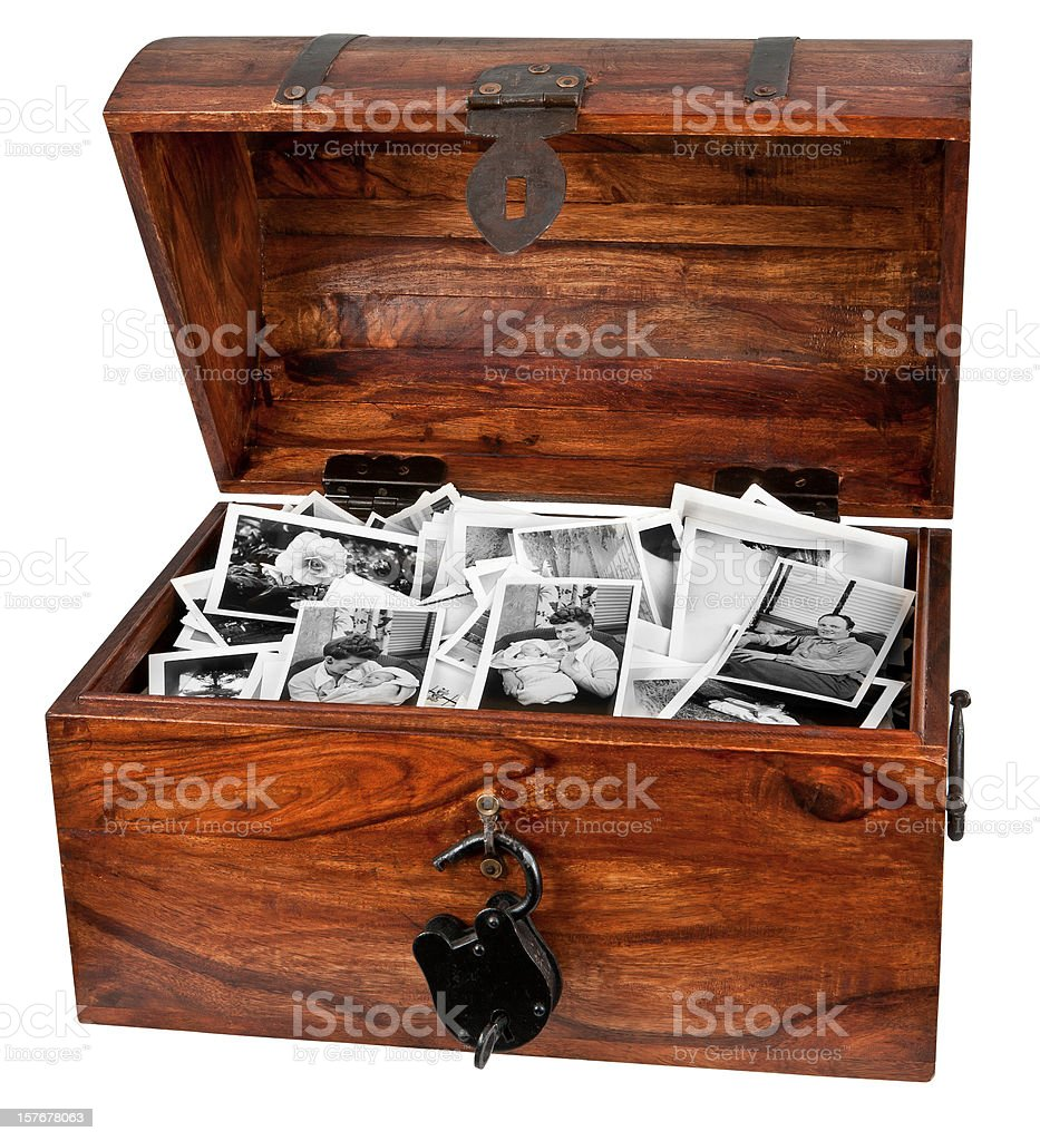 treasure chest of old photos royalty-free stock photo
