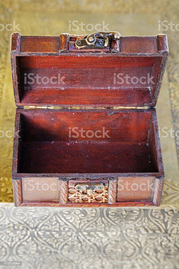 Treasure Chest Open royalty-free stock photo
