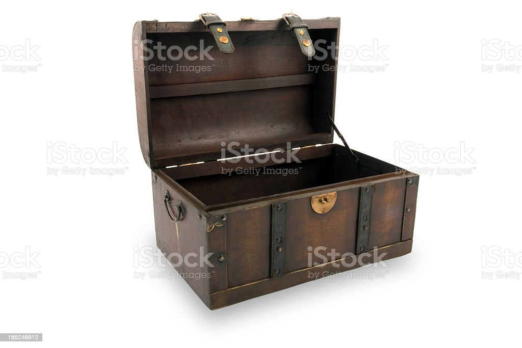 Treasure chest stock photo