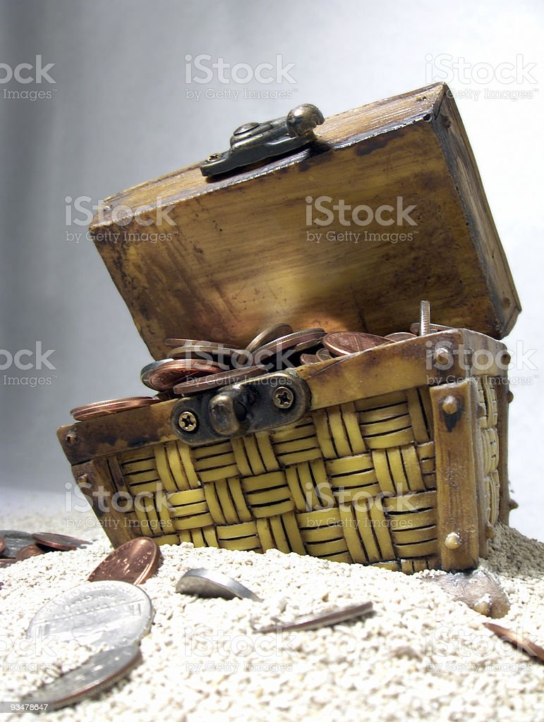 Treasure Chest - Vertical royalty-free stock photo