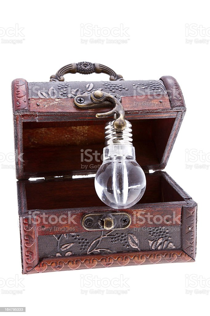 Treasure chest with an idea royalty-free stock photo