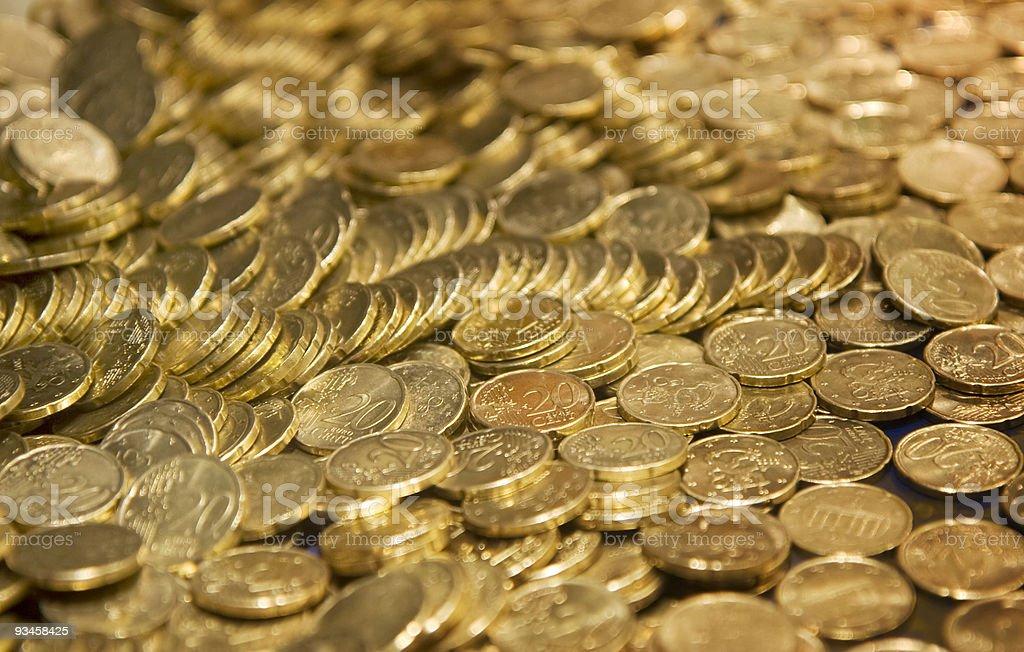 Treasure in cents royalty-free stock photo