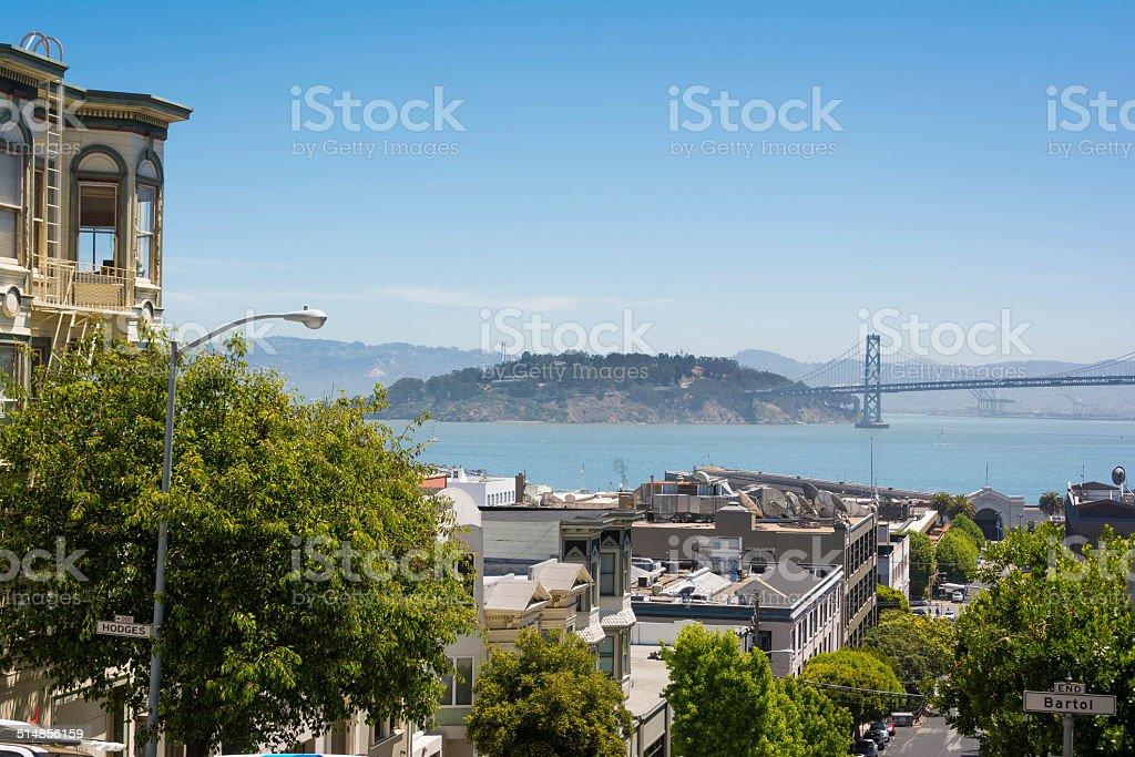 Treasure Island and Yerba Buena, San Francisco stock photo