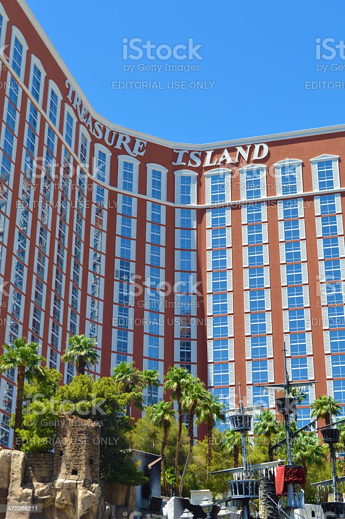 Treasure Island Casino and Hotel In Las Vegas royalty-free stock photo