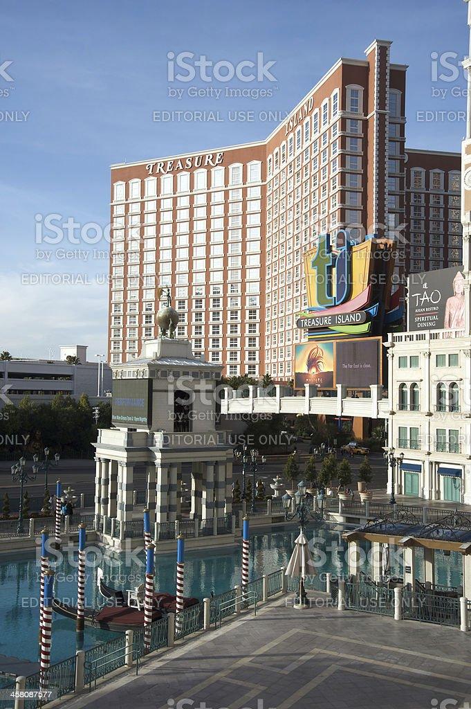Treasure Island Hotel and Casino in Las Vegas royalty-free stock photo