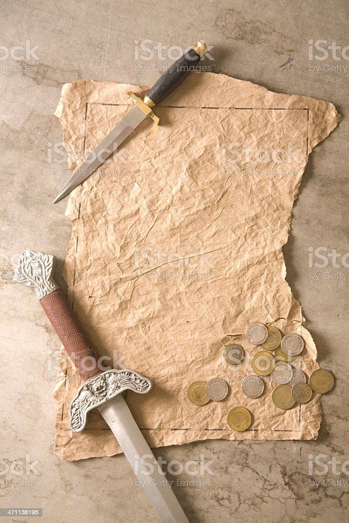 Treasure Map stock photo