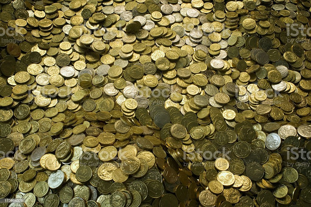 treasure of gold coins royalty-free stock photo