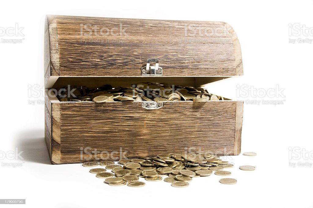 Treasure-chest royalty-free stock photo