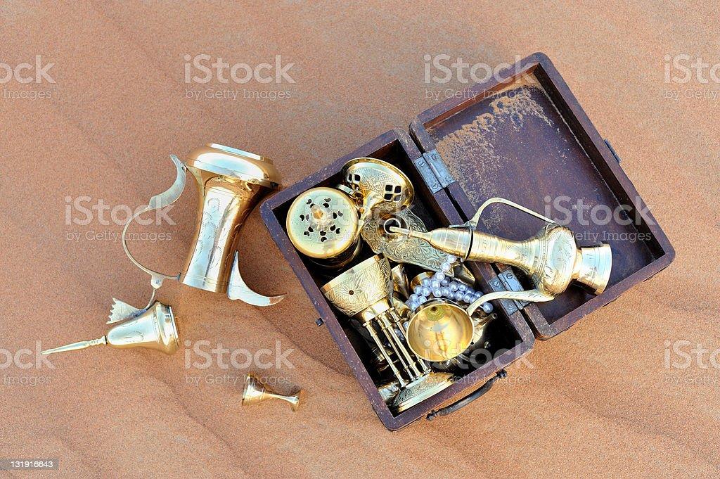 treasures in the desert royalty-free stock photo