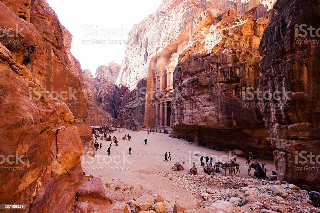Treasury. Ancient city of Petra, Jordan royalty-free stock photo
