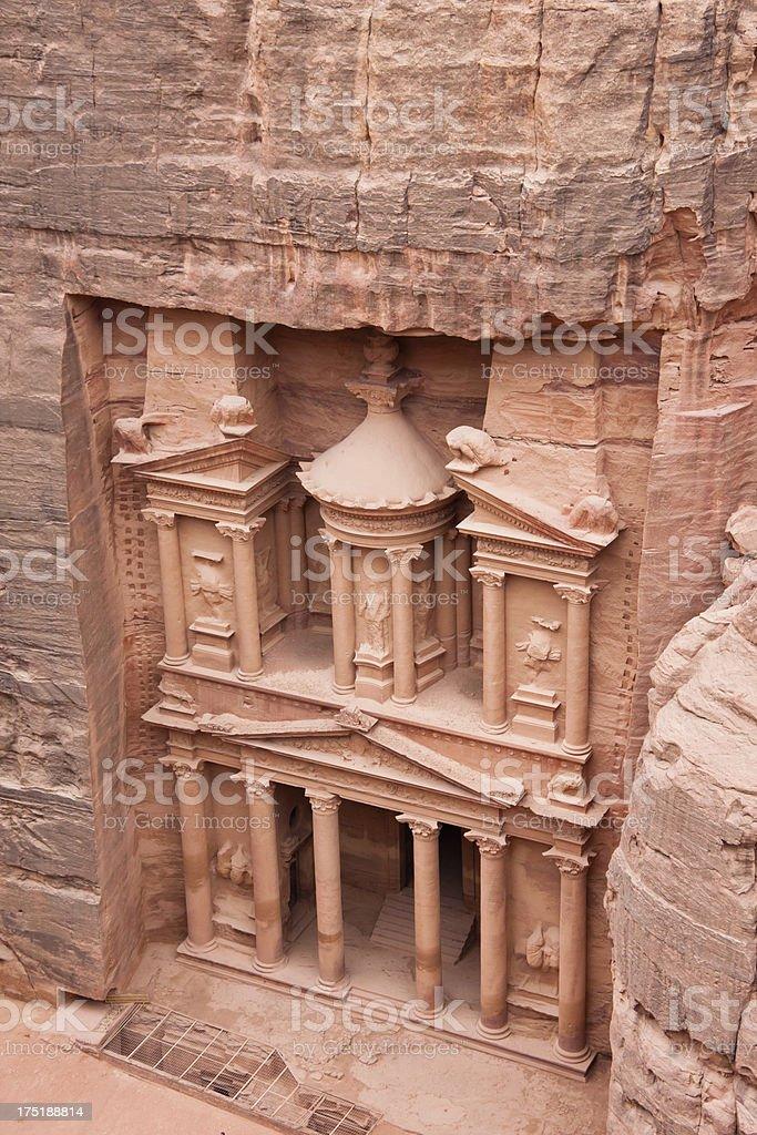 Treasury at Petra in Jordan stock photo