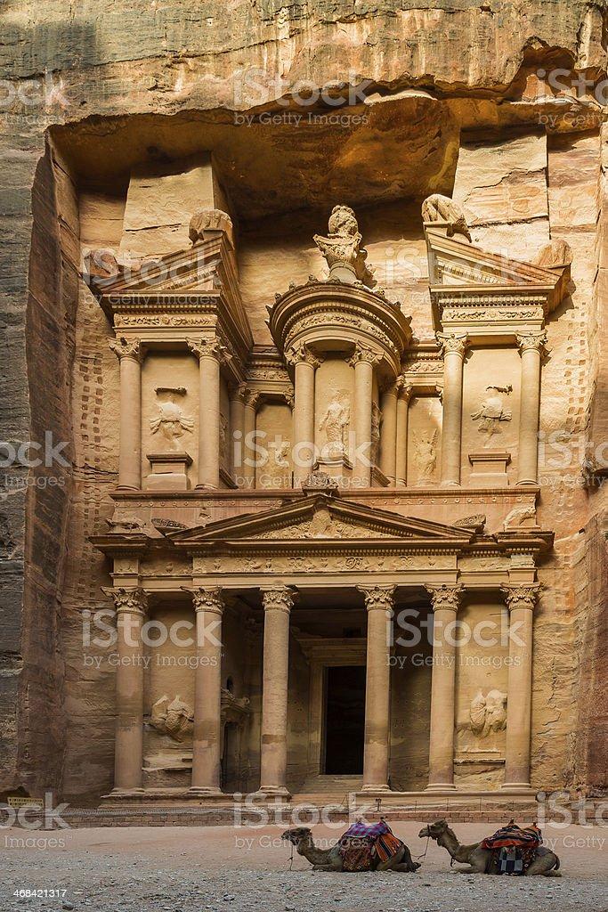 Treasury at Petra, Jordan royalty-free stock photo