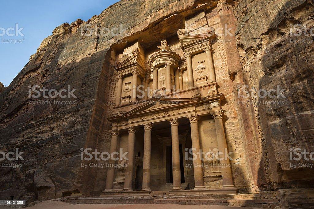 Treasury at Petra, Jordan stock photo