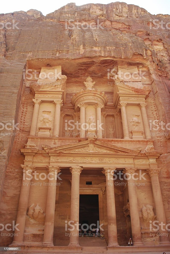 Treasury at Petra royalty-free stock photo