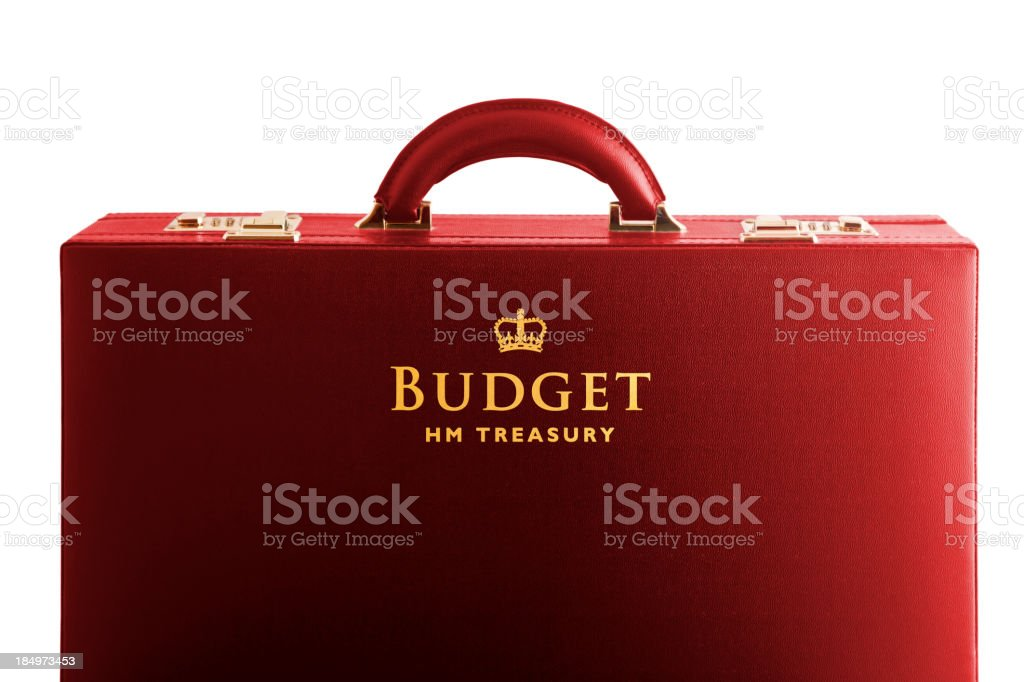 UK Treasury Budget stock photo