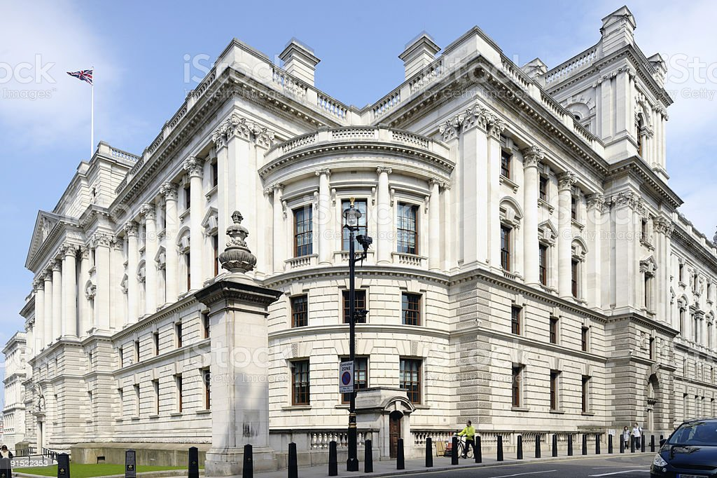 Treasury Building, Government Offices Great George Street, Westminster, London royalty-free stock photo