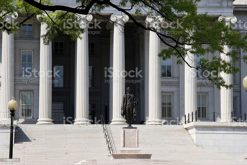 U.S. Treasury Building stock photo