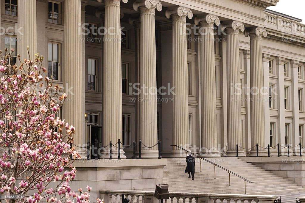 Treasury Building stock photo