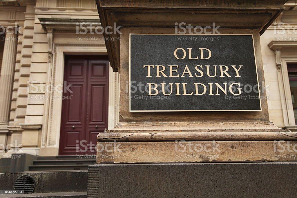 Treasury Building royalty-free stock photo