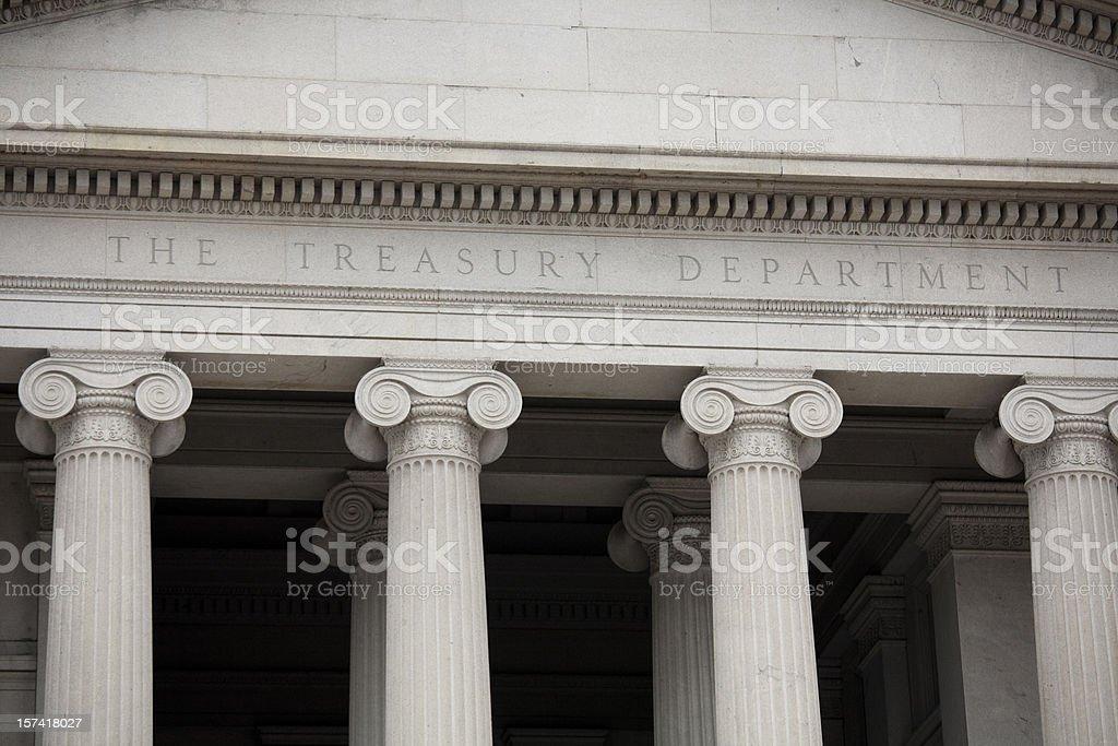 US Treasury Building, Washington DC stock photo
