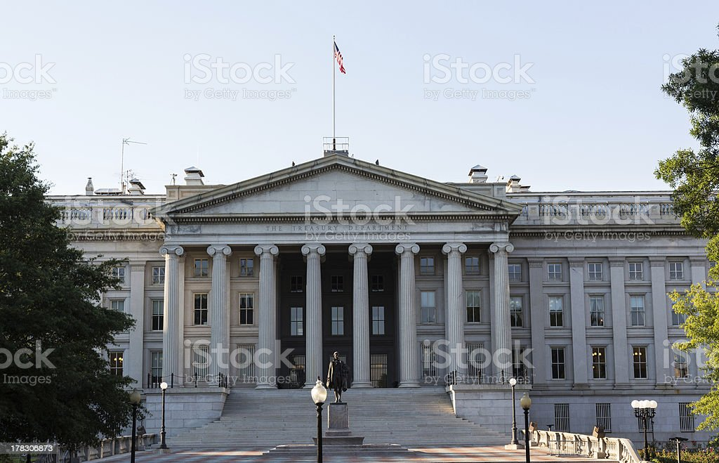 Treasury Building Washington DC stock photo