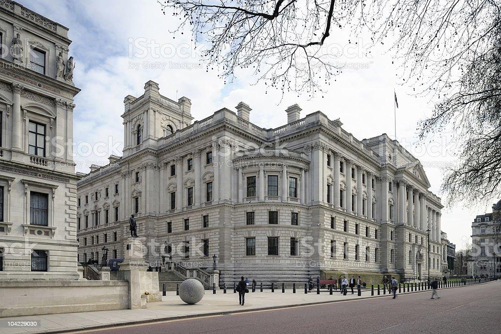 Treasury Building, Westminster, London, England, UK royalty-free stock photo