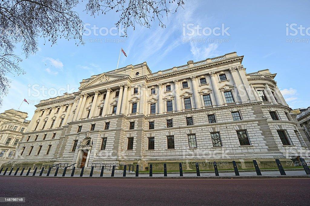 Treasury Building, Westminster, London, England, UK stock photo