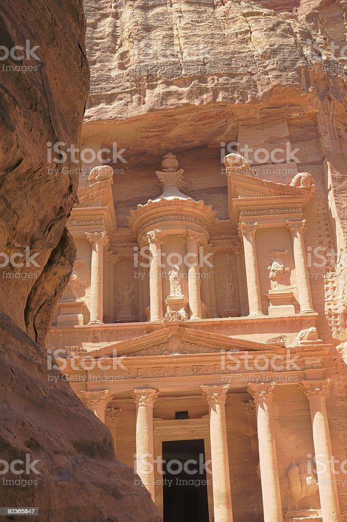 HDR treasury carving at petra jordan stock photo