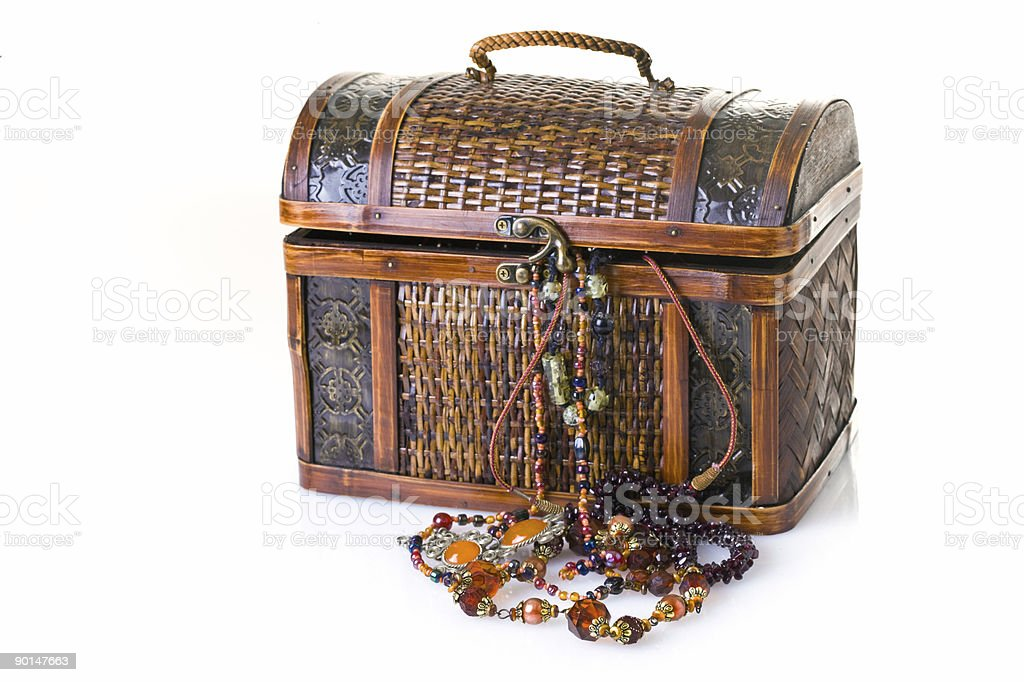 Treasury chest stock photo
