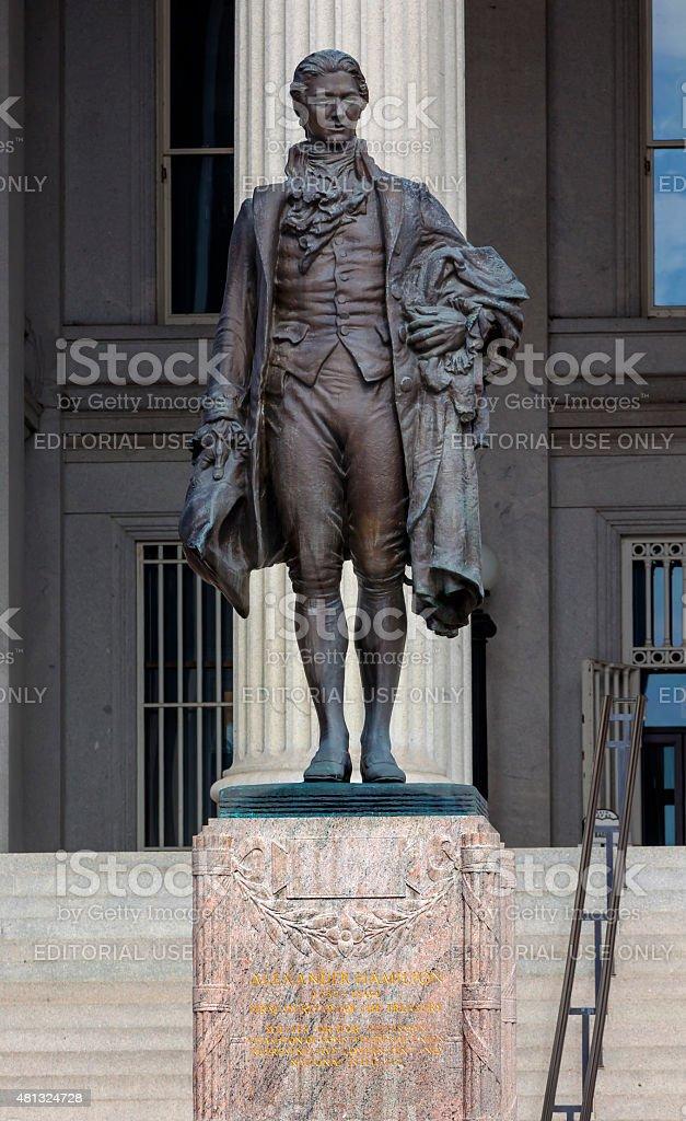 US Treasury Department Alexander Hamilton Statue Washington DC stock photo