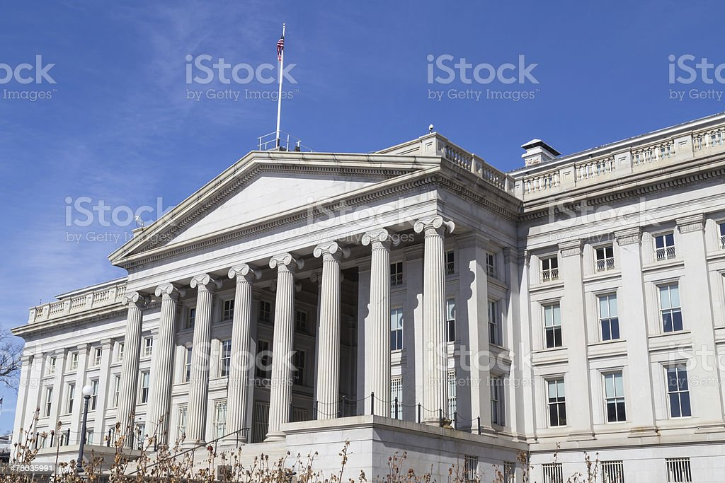 US Treasury Department, Washington, DC stock photo