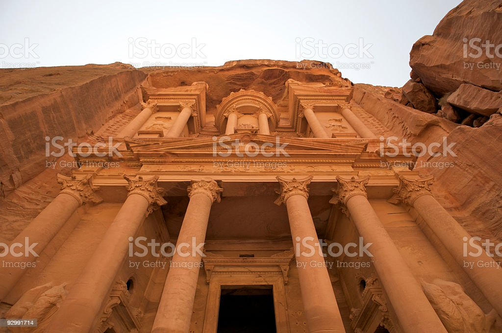 Treasury in Ancient City of Petra, Jordan royalty-free stock photo