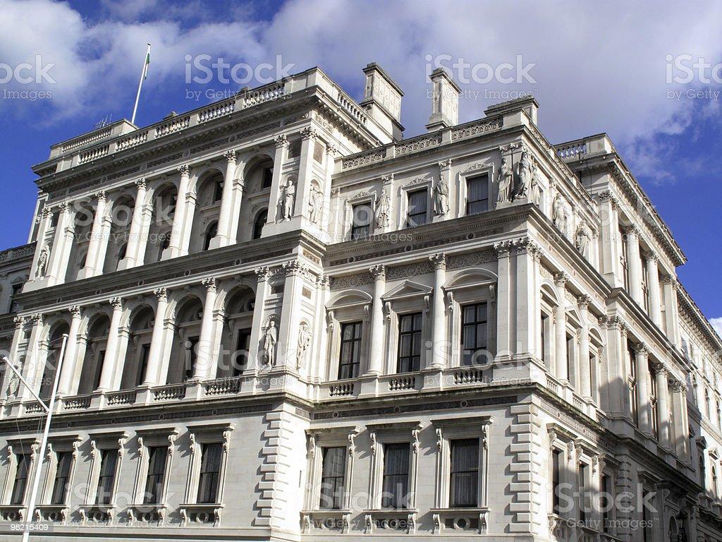HM Treasury in London's Whitehall royalty-free stock photo