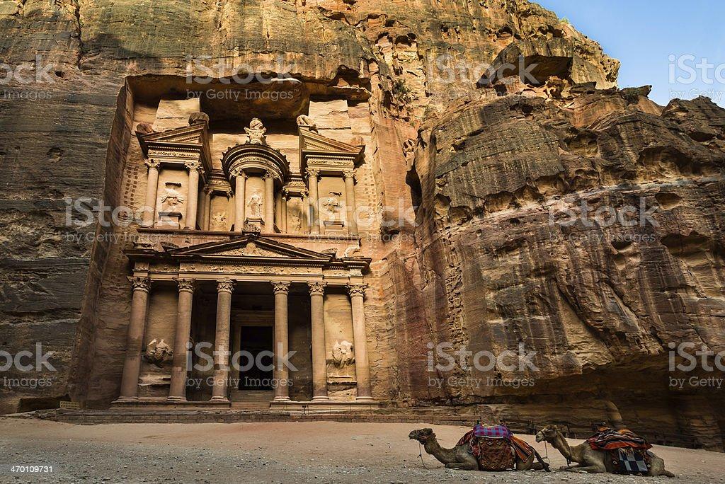 Treasury in Petra, Jordan stock photo