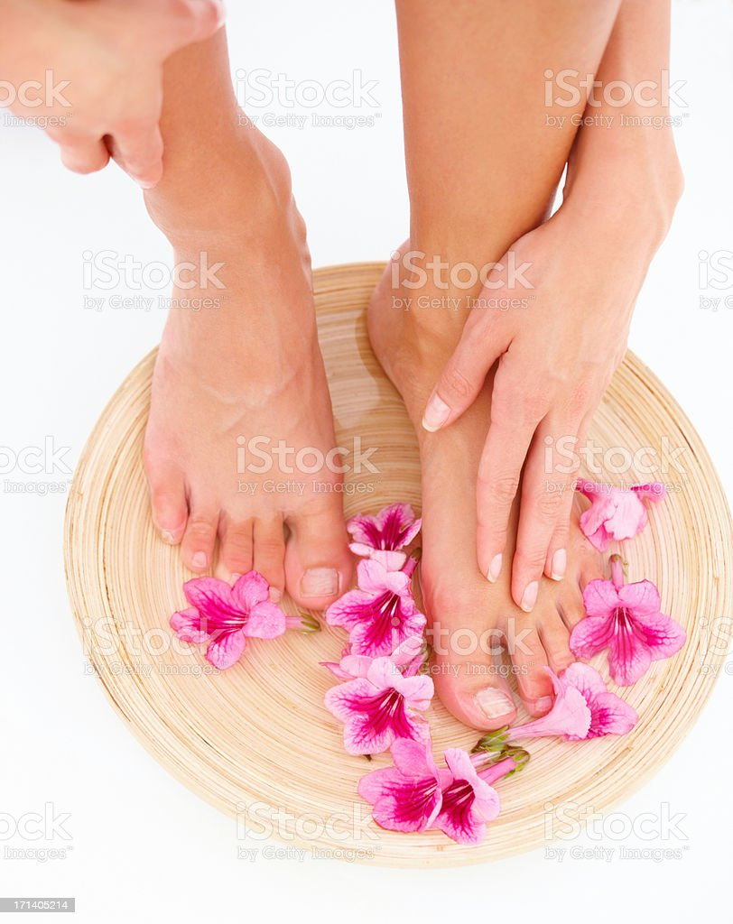 Treat yourself to luxurious pampering stock photo