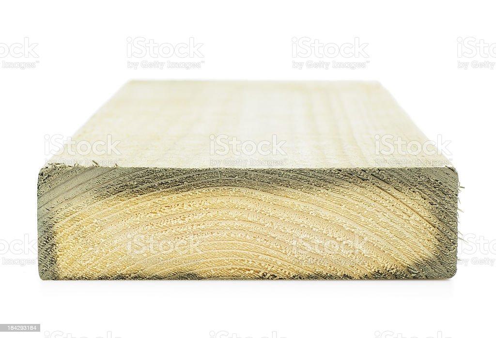 Treated wood stock photo
