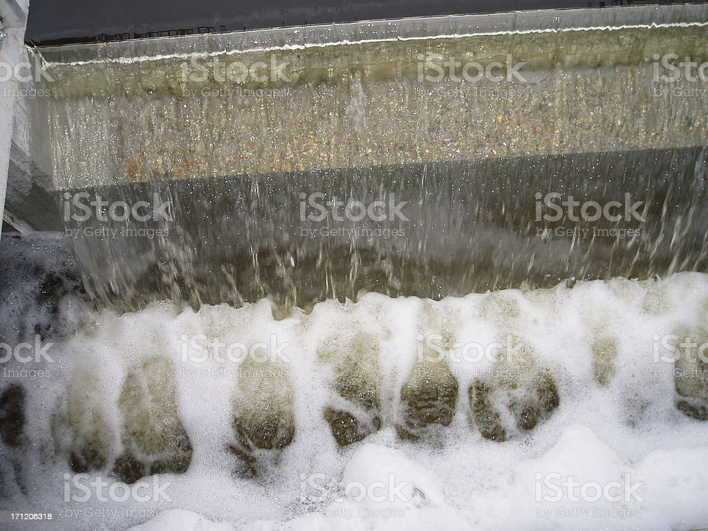 Treated worn water royalty-free stock photo