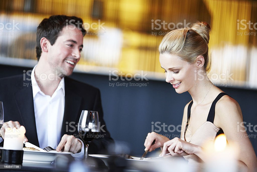Treating her to a lovely night out royalty-free stock photo