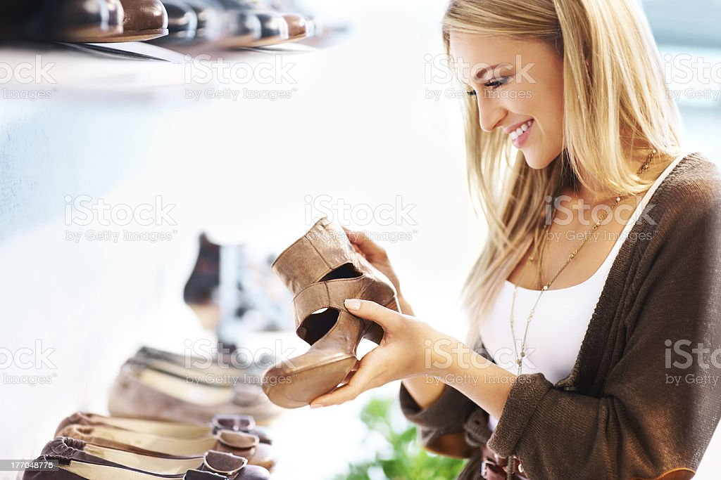 Treating herself to a girls day out stock photo