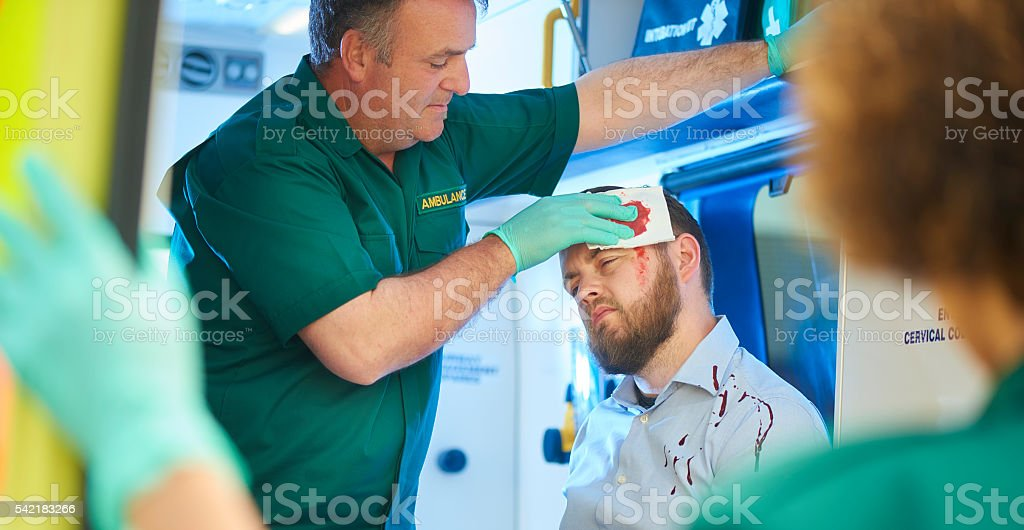 treating the casualty stock photo