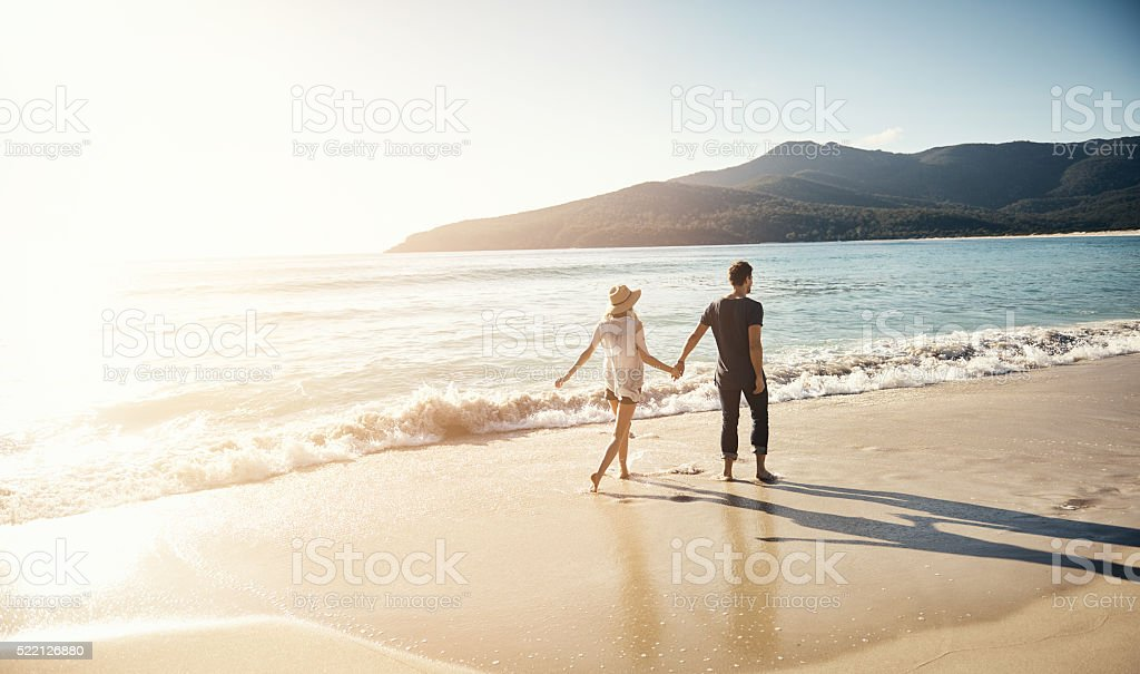Treating themselves to a beachside vacation stock photo